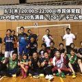 【個人フットサル】8/3(木) 20:00~22:00@鳥取市民体育館(1チーム参加)